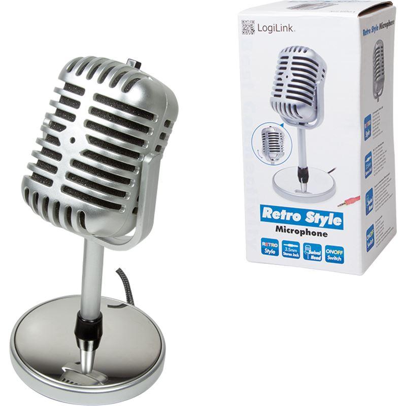 logilink hs0036 3 5 mm klinke mikrofon mikrofone. Black Bedroom Furniture Sets. Home Design Ideas