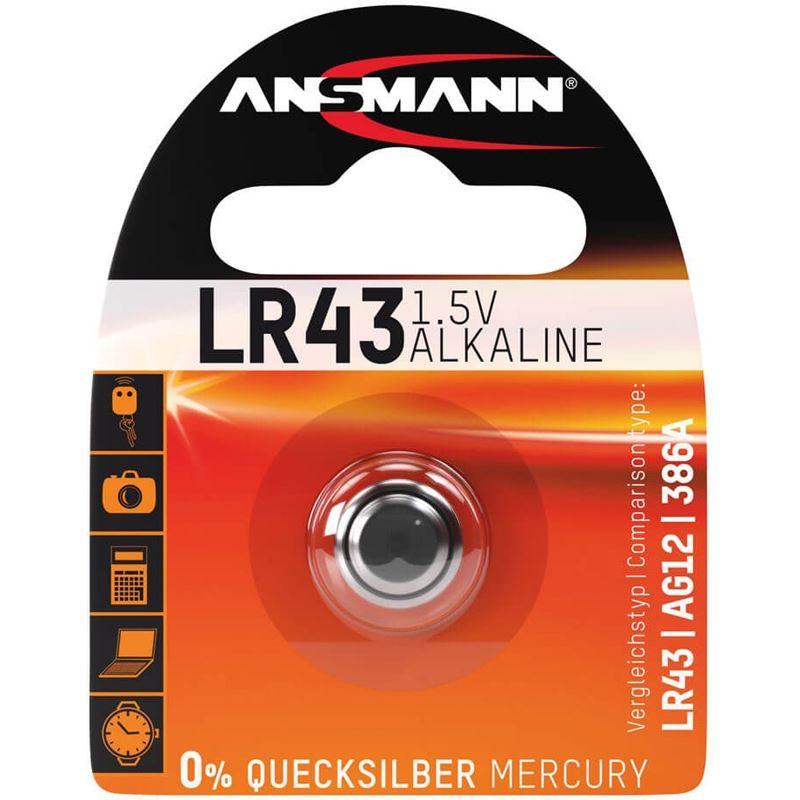 ansmann lr43 alkaline knopfzellen batterie 1 5 v 1er pack batterien. Black Bedroom Furniture Sets. Home Design Ideas