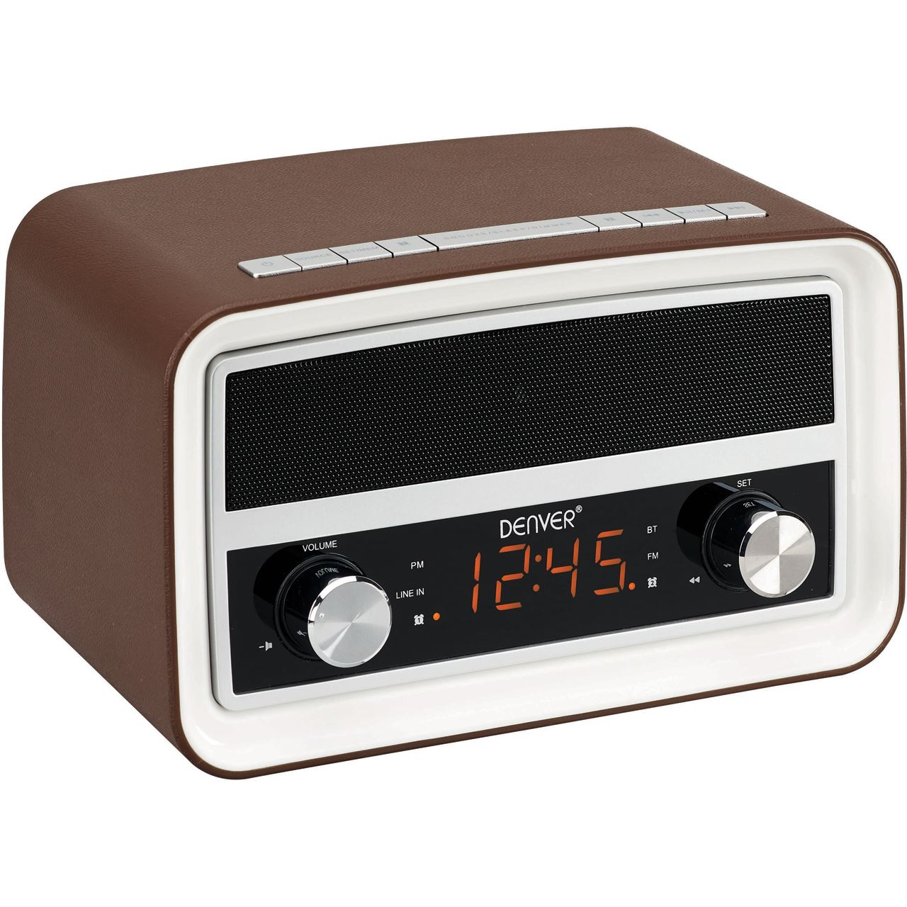 denver crb 619 uhrenradio mit bluetooth braun radios speichermodule ssds. Black Bedroom Furniture Sets. Home Design Ideas