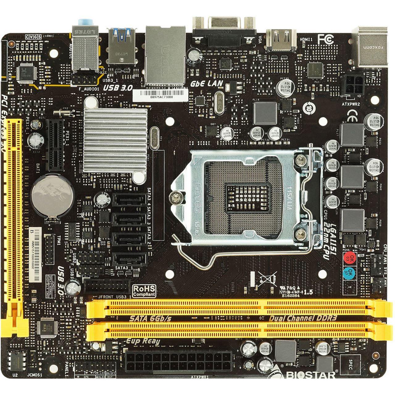 Biostar H110MHV3 Intel H110 So.1151 Dual Channel