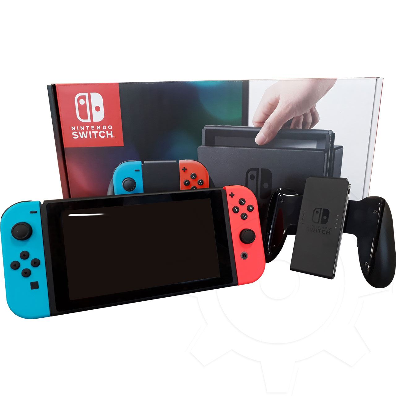 nintendo switch konsole schwarz blau rot nintendo. Black Bedroom Furniture Sets. Home Design Ideas
