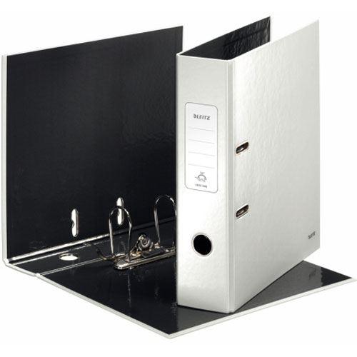 leitz ordner wow 180 grad din a4 80 mm perlwei ordner speichermodule. Black Bedroom Furniture Sets. Home Design Ideas