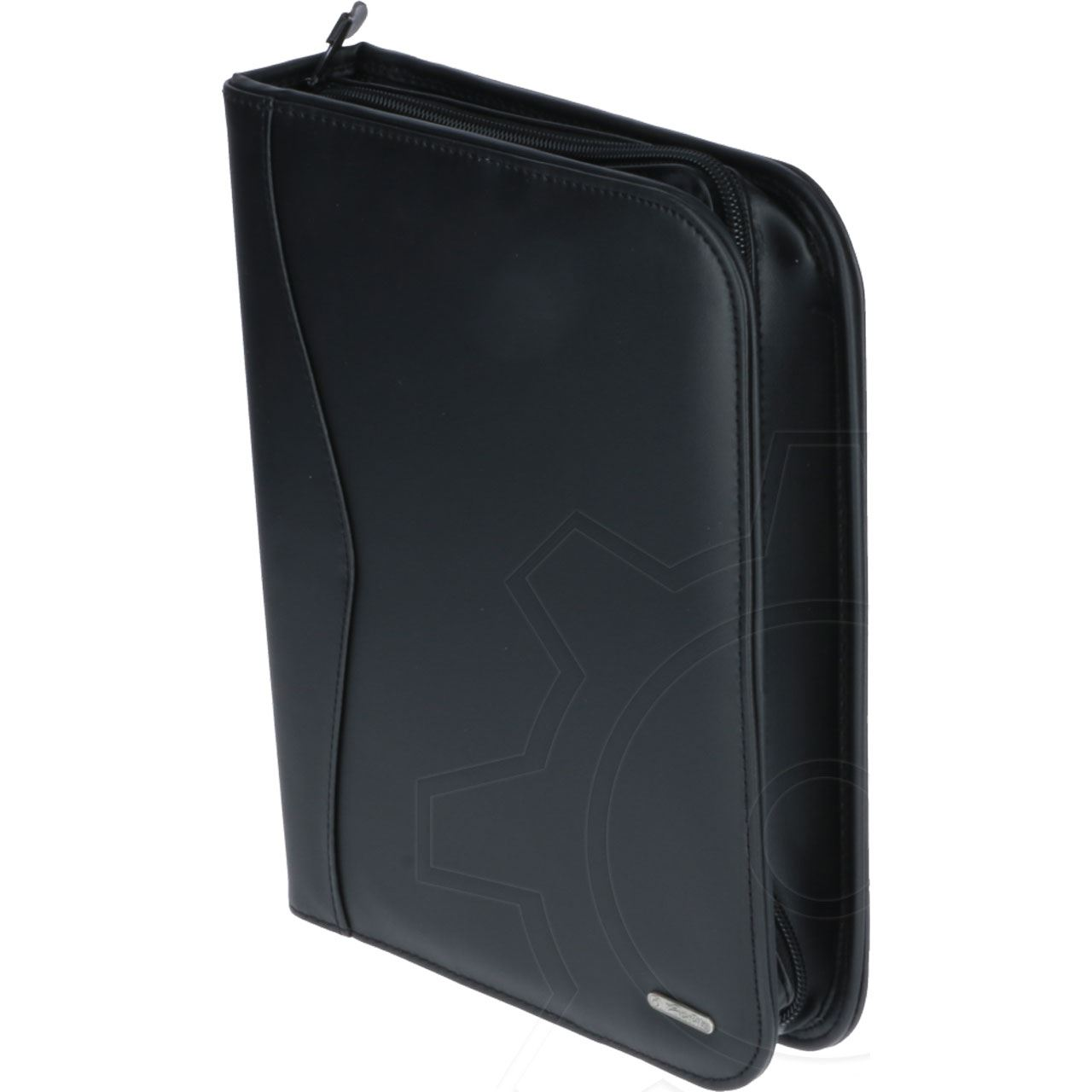 herlitz ringbuchmappe din a5 kunstledereinband schwarz ringbuch. Black Bedroom Furniture Sets. Home Design Ideas