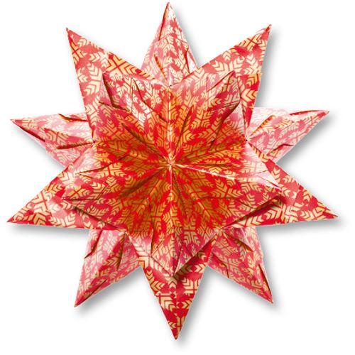 folia faltbl tter bascetta stern rot bedruckt 32 blatt bastelmaterialien. Black Bedroom Furniture Sets. Home Design Ideas