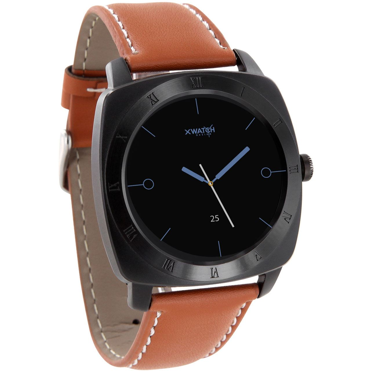 Xlyne Smart Watch NARA XW black chrome - cognac