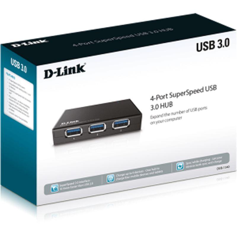 D-Link DUB-1340/E 4-port USB 3.0 extern mit Netzteil ...