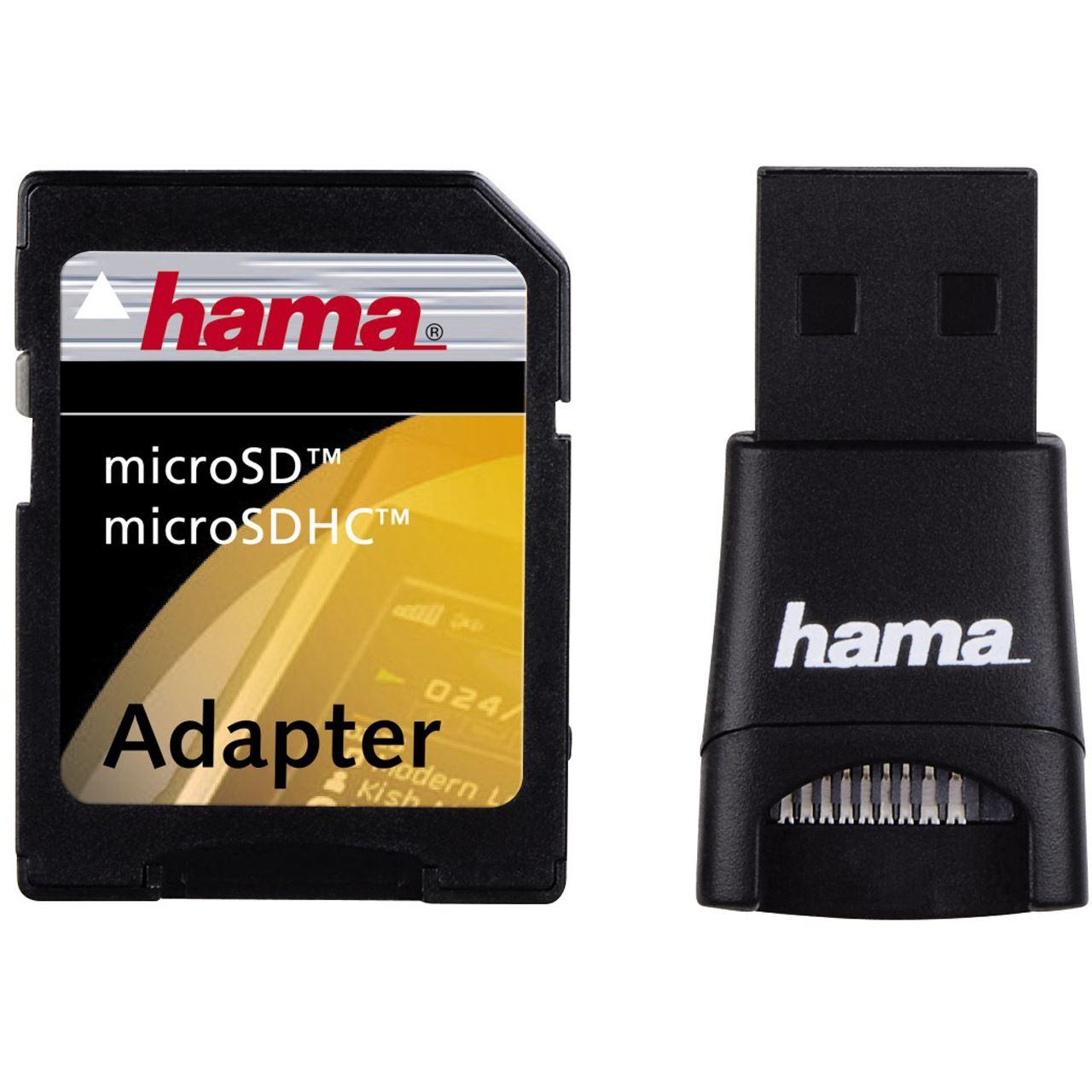 hama 00091047 usb sd adapter set usb 2 0 stick. Black Bedroom Furniture Sets. Home Design Ideas