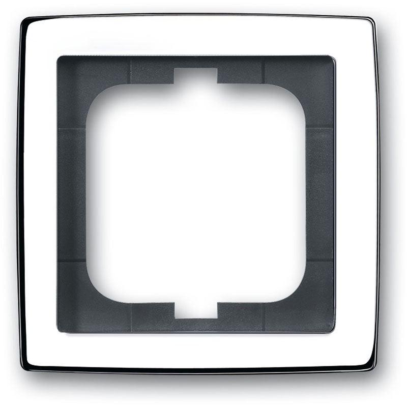 busch jaeger abdeckrahmen 1fach rahmen chrom 1721 80g fronten speichermodule. Black Bedroom Furniture Sets. Home Design Ideas