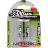 ANSMANN Akkus AA / Mignon Nickel-Metall-Hydrid 2er Pack