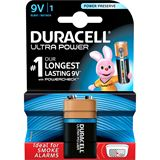 Duracell Ultra Power 6LR61 Alkaline E Block Batterie 9.0 V 1er Pack