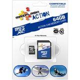 64 GB MAXFLASH Action microSDXC Class 10 Retail