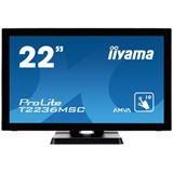 "21,5"" (54,61cm) iiyama T2236MSC-B2 Touch schwarz 1920x1080 1xDVI"