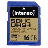16 GB Intenso Professional Performance SDHC Class 10 U1 Retail