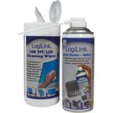 (€0,05*/1L) LogiLink Druckluft Universal Reinigungskit 400ml/100
