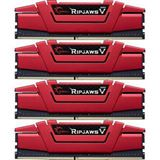 16GB G.Skill RipJaws V rot DDR4-2400 DIMM CL15 Quad Kit