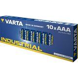 Varta Industrial LR03 Alkaline AAA Micro Batterie 1.5 V 10er Pack