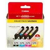 Canon Tinte CLI-571 0386C005 schwarz, cyan, magenta, gelb, cyan hell,