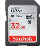 32 GB SanDisk Ultra 80MB/s SDHC Class 10 Retail