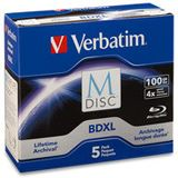 Verbatim M-DISC BD-R XL 100GB/1-4x Jewelcase (5 Disc) 98913