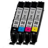 Canon Tinte CLI-571 incl. Fotopapier 0386C006 cyan, magenta, gelb, schwarz