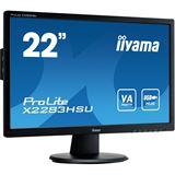 """21,5"""" (54,61cm) iiyama ProLite X2283HSU-B1DP schwarz 1920x1080 1xDisplayPort / 1xDVI / 1xVGA"""