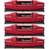 64GB G.Skill RipJaws V rot DDR4-3000 DIMM CL15 Quad Kit