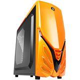 Raidmax Viper II mit Sichtfenster Midi Tower ohne Netzteil orange