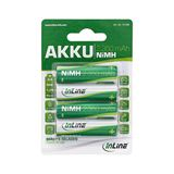 InLine HR6 Nickel-Metall-Hydrid AA Mignon Akku 2350 mAh 4er Pack