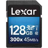 128 GB Lexar SDXC 300x Class 10 U1 Retail