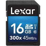 16 GB Lexar SDHC 300x Class 10 U1 Retail