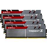 16GB G.Skill Trident Z silber/rot DDR4-3600 DIMM CL17 Quad Kit