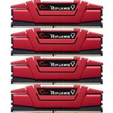 64GB G.Skill RipJaws V rot DDR4-3200 DIMM CL15 Quad Kit