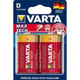Varta Max Tech LR20 Alkaline D Mono Batterie 1.5 V 2er Pack