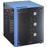 Lian Li PC-O8 mit Sichtfenster Wuerfel ohne Netzteil blau