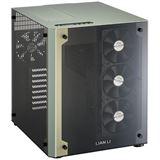 Lian Li PC-O8 mit Sichtfenster Wuerfel ohne Netzteil gruen