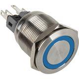DimasTech Vandalismustaster 22mm - Silverline - blau