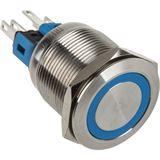 DimasTech Vandalismusschalter/-taster 22mm - Silverline - blau