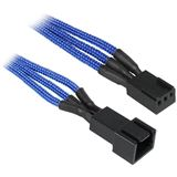 BitFenix 3-Pin Verlängerung 30cm - sleeved blau/schwarz