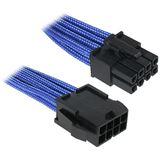 BitFenix 8-Pin EPS12V Verlängerung 45cm - sleeved blau/schwarz