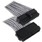 BitFenix 24-Pin ATX Verlängerung 30cm - sleeved silber/schwarz