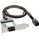 InLine SAS HD low profile PCI Slotblech mit Kabel, ext. SFF-8088 auf