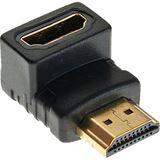 InLine HDMI Adapter HDMI-Stecker auf HDMI-Buchse Schwarz 4K /