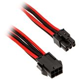 Phanteks 6-Pin PCIe Verlängerung 50cm sleeved schwarz/rot