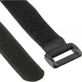 InLine Klettschlaufen 20x100mm, 10er, schwarz