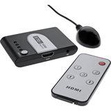 InLine HDMI Umschalter 3 IN / 1 OUT, elektronisch, 3D