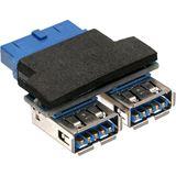 KAB InLine USB 3.0 Adapter 2x Buchse A auf Pfostenanschluss