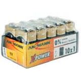 ANSMANN X-Power 6LR61 Alkaline E Block Batterie 9.0 V 10er Pack
