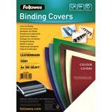 Fellowes Deckblatt Delta, Lederstruktur, DIN A4, gelb
