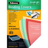 Fellowes Deckblatt, DIN A4, PVC, transparent, 0,20 mm