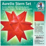 Ursus Faltblätter Aurelio Stern, rot, 150 x 150 mm